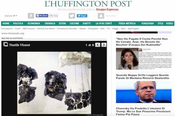 HUFFINGTON Post – Triennale di Milano, Textile Vivant: dal filato all'abito. La mostra sulla storia dei tessuti nell'epoca contemporanea