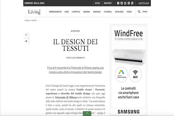 Living Corriere- Il design dei tessuti